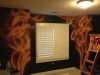 Flames Mural On Kids Wall by G.Go Decorative