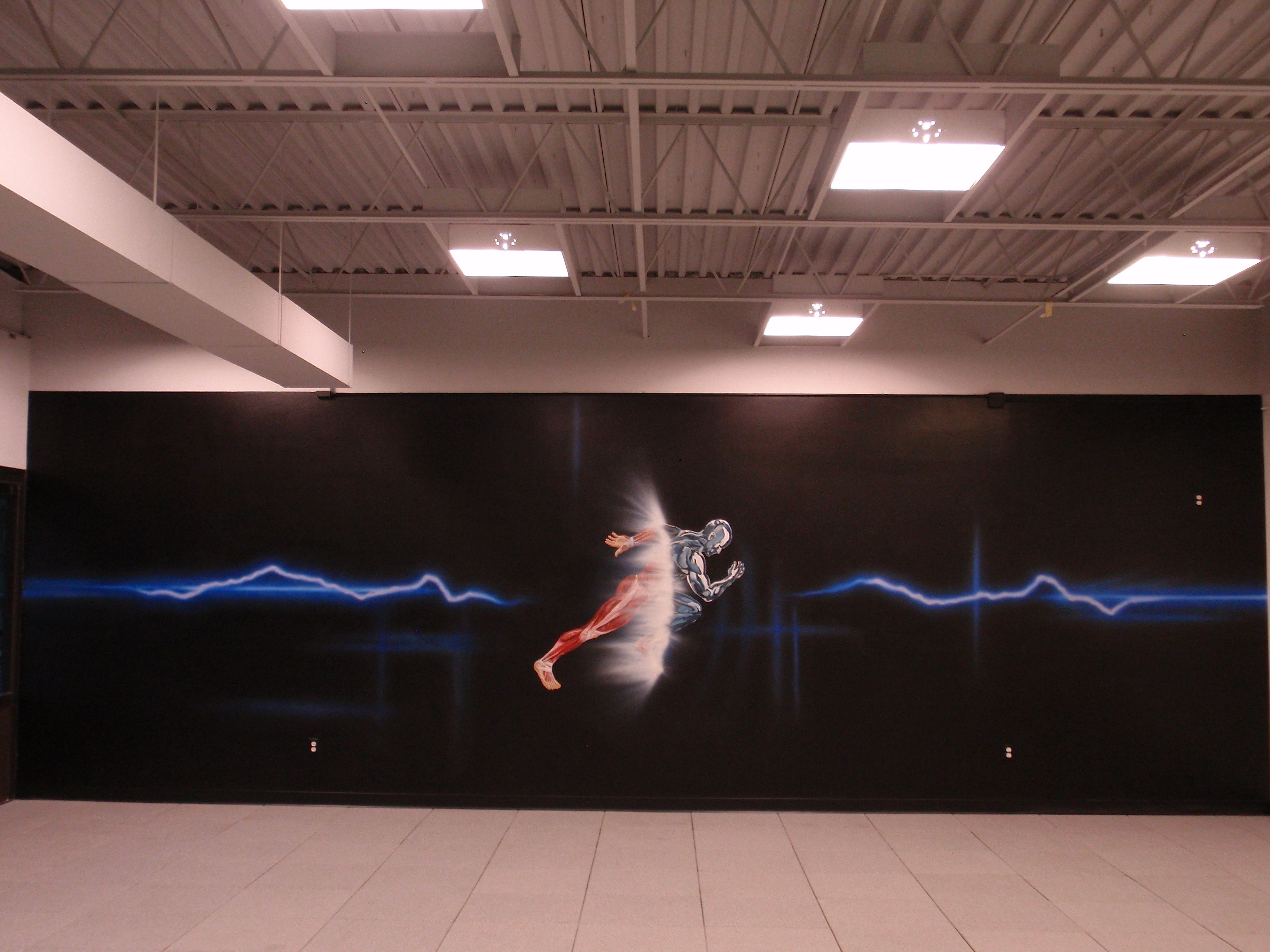 Mural Painting For Crossfit Gyms Yoga Health And