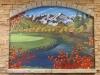 Mountain Mural Scene