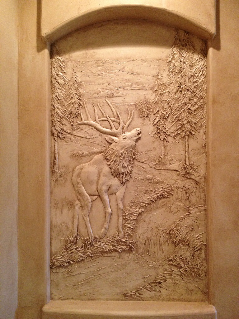 Sculptural mural bas relief custom wall art g go decorative for Bas relief mural