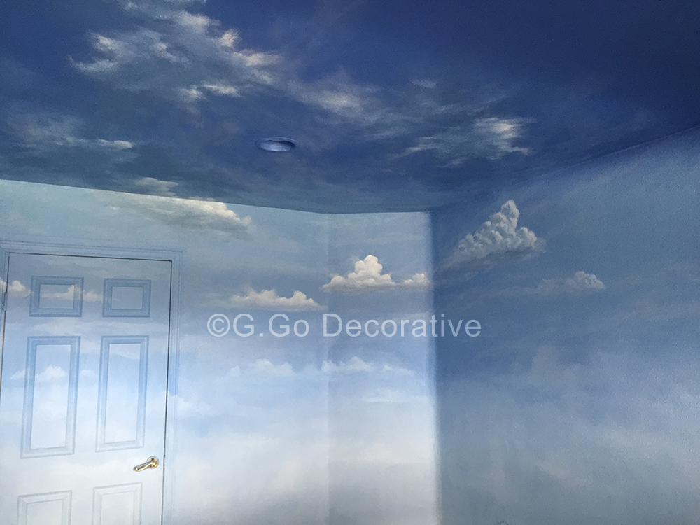 Sky Murals And Cloud Mural Painting Denver G Go