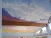Sunset Sky Cloud mural