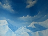 Mountain Sky Cloud mural