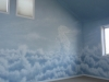 Above the clouds nursery mural