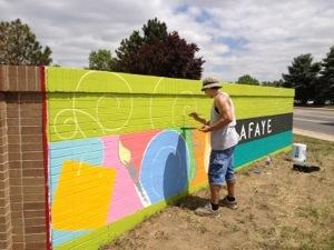 Gary Gomez outdoor mural