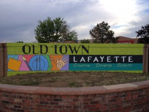 Outdoor mural for city of Lafayette