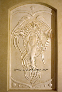 bas relief sculpture mural