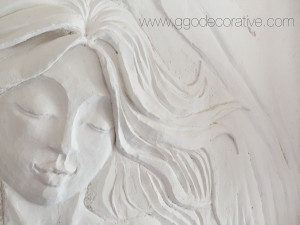 Sculptural Mural Bas Relief Wall Art
