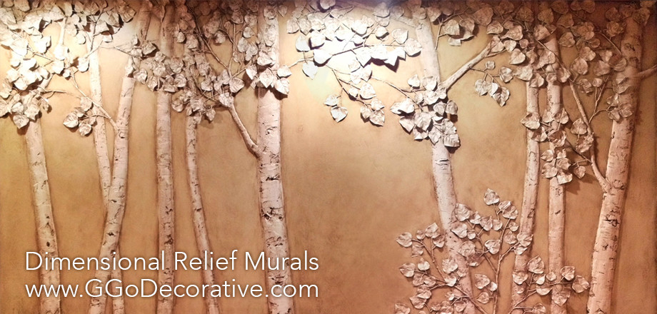 Sculptural Mural Bas Relief Custom Wall Art G Go Decorative