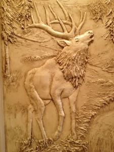 sculptural mural bas relief