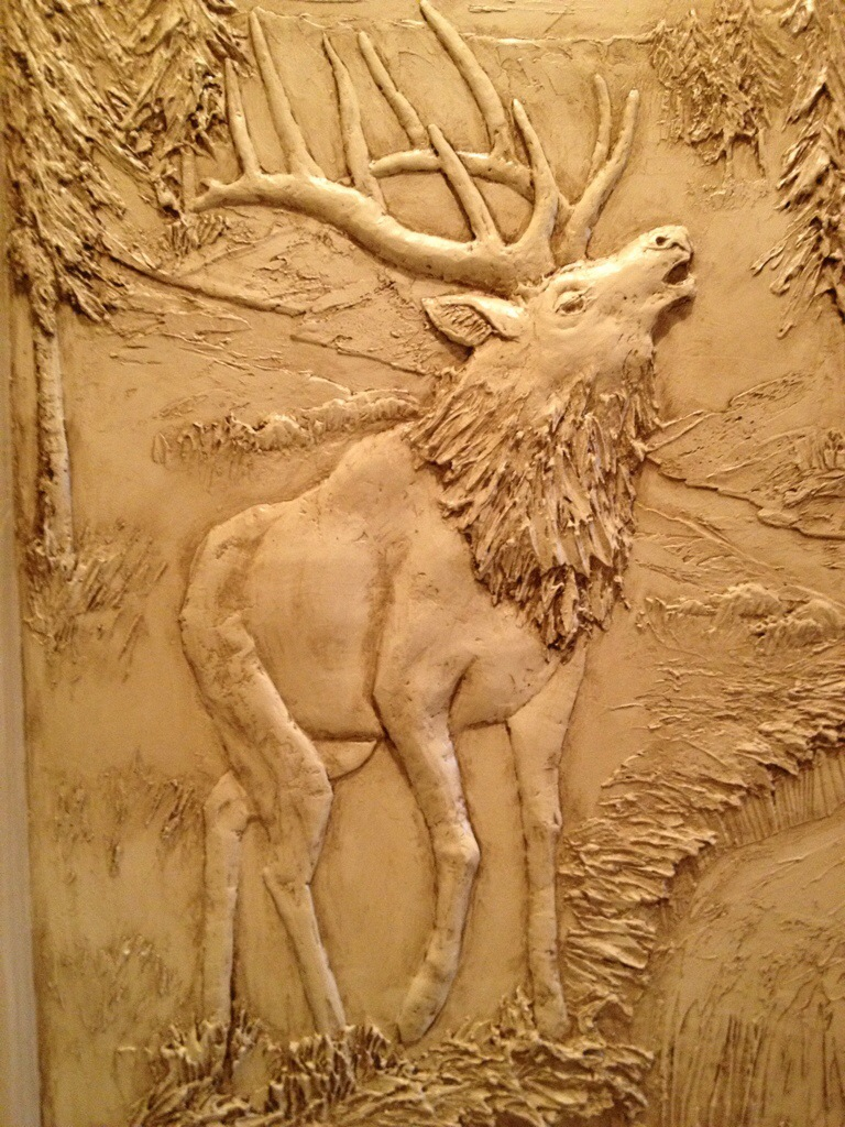 Elk mountain sculptural mural