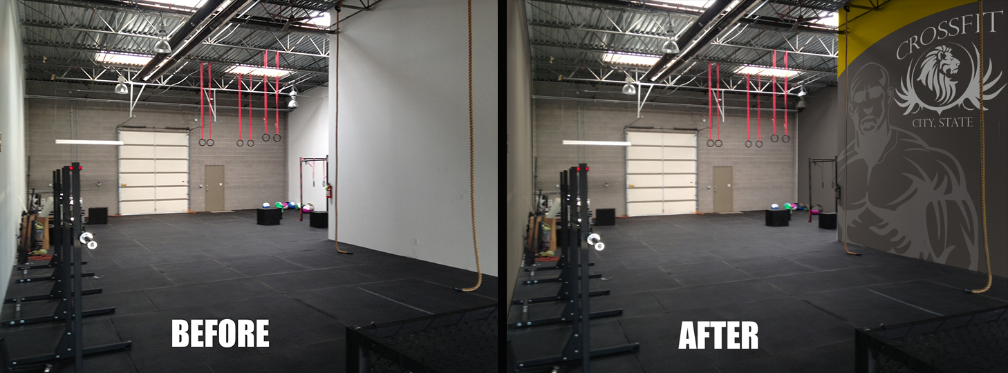 Crossfit home gym layout