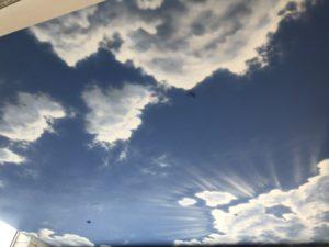 Sky murals cloud painting